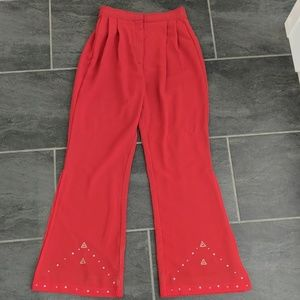 70sVINTAGE red star studded disco bellbottoms